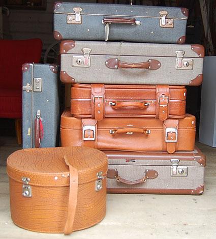 Vanhoja matkalaukkoja
