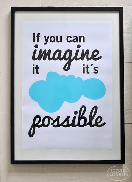 """Affisch """"Imagine it"""" A2"""