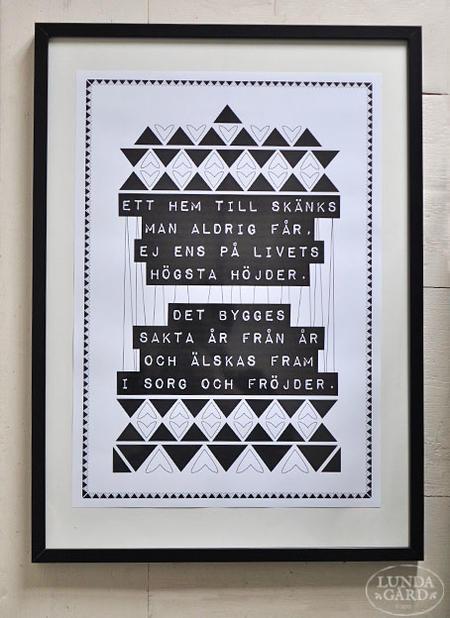 """Affisch """"Ett hem"""" A2"""