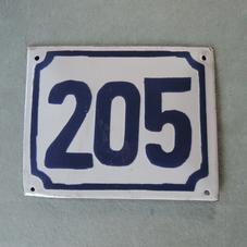 Gammal emaljskylt nummer 205