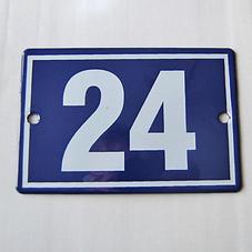 Blå emaljskylt - 24