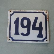 Gammal emaljskylt nummer 194