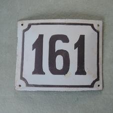Gammal emaljskylt nummer 161