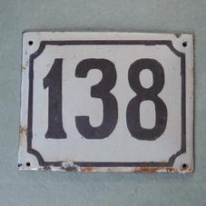 Gammal emaljskylt nummer 138
