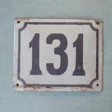 Gammal emaljskylt nummer 131