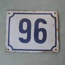 Gammal emaljskylt nummer 96