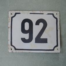 Vanha emalikyltti numero 92