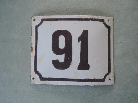 Vanha emalikyltti numero 91