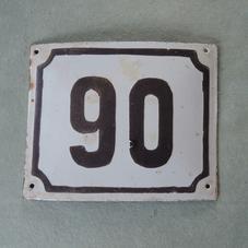 Gammal emaljskylt nummer 90