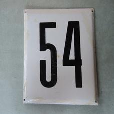Iso vanha emalikyltti numero 54