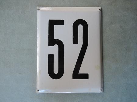 Iso vanha emalikyltti numero 52
