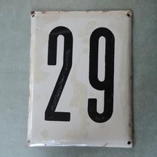 Stor gammal emaljskylt nummer 29
