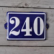 Blå emaljskylt nr 240