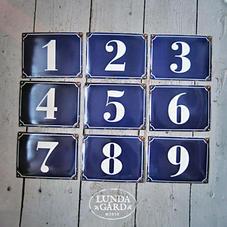 Husnummer - plåtskylt